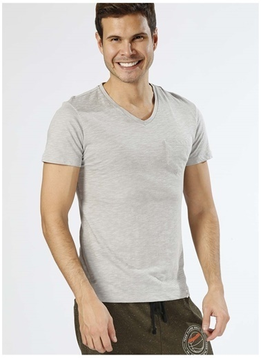 Koton Koton Basic Gri T-Shirt Gri